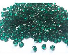 liying Acryl-Diamant, 0,8 cm, Acryl, rund, Konfetti, Diamant-Kristalle, für Tischstreuer, Vasenfüller, Kunst und Handwerk, Hochzeitsdekoration 0.3 inch Aqua Blue