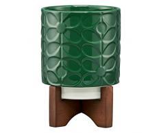 Orla Kiely Blumentopf aus Keramik, Jade, Einheitsgröße