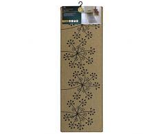 JVL 01-207 Läufer Pusteblume 50 x 150 cm, Polyester, beige, Einheitsgröße