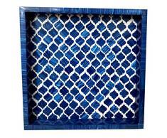 Collectibles Buy Bone Exotic Designer Moorish Inlay Handgefertigtes Tablett Küche Couchtisch Tischplatte Getränke-Serviertablett New Artikel Marokkanische Dekoration Artikel