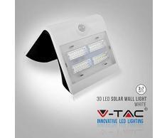 V-TAC LED 3W Solarleuchte Außenleuchte Ip65 3000/4000K + Pir W Sensor