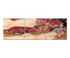 Modernes Bild 50Â x 150Â cm Abstrakt Drei Teile getrennt Typ zusammensetzbar Trend Schlange Wasser