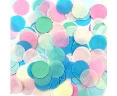 Wrapables 2,5 cm rund Gewebe Konfetti Party Dekorationen für Hochzeiten, Geburtstagsfeiern, und Duschen Pastel Multicolor