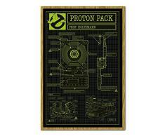 Ghostbusters 3Â Proton Pack Poster Magnettafel Eichenholz-Rahmen, 96,5Â x 66Â cm (ca. 96,5Â x 66Â cm)