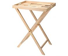 mazzali Tablett Tisch auf Ständer, Holz, mehrfarbig