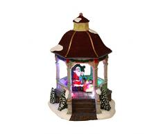 Home VILLAGE 5Â mai521mc Pavillon Weihnachtsmann mit 4Â Batterien LED Leuchtmittel Kunstharz/Poly Kunstharz, mehrfarbig