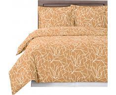 Luxus 3-teiliges – Desiree Bettbezug Set 100% Baumwolle Fadenzahl 300 Fasern Reactive Prints Bettdecke Set by sheetsnthings, baumwolle, honig, King/California king