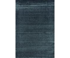 G & G Flora Carpets Modern Fries/superverso Teppichläufer, Hardware Synthetik, Blau, 300 x 80 x 1,2 cm