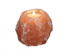 HIMALAYA SALT DREAMS - Salzkristall Teelichthalter Rock ca. 500 g, natural shape