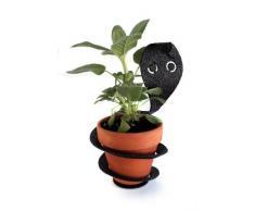 PotPals Pflanzenständer für 10,2 cm große Blumentöpfe, Schwarz, Schlange