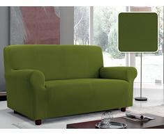 Italian Bed Linen Sofabezug Bielastisch Ausschnitt Stoff mit glatter Struktur, Polyester 130/170 x 90 cm dunkelgrün