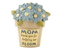 Blossom Bucket Blumentopf mit Blumen, Aufschrift Thank You