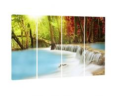 designart blau Waters von Huai Mae Kamin Wasserfall L & Scape Metall Wand Kunst – mt7136, 48x28