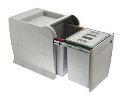 ELLETIPI City PTA 4045b Mülleimer Mülltrennung, ausziehbar für Base, grau, 35 x 47 x 44 cm