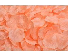 Lothringen Hochzeit Tisch Dekoration Seide Rosenblätter Blumen Konfetti Light Salmon