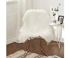 MIULEE Super weicher Flauschiger Teppich Kunstfell-Teppich Dekorativer Plüsch Zottelteppich für Nachttisch, Sofa, Boden, Kinderzimmer 2 x 3 ft Sheepskin weiß