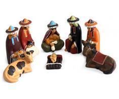 NOVICA 442.120 cm Born to Ayacucho Keramik Krippe Figur