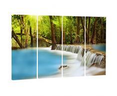 designart, Huai Mae Kamin Wasserfall L & Scape Metall Wand Kunst – mt7103, 48x28