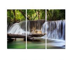 designart Huai Mae Kamin Wasserfall Foto Metall Wand Kunst – mt7123, 36x28