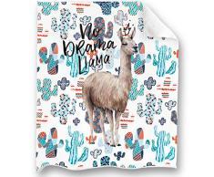 Loong Design Positive Caring Flamingo Überwurfdecke, superweich, flauschig, Premium Sherpa-Fleece-Decke, 127 x 152 cm, passend für Sofa, Stuhl, Bett, Büro, Reisen, Camping, Geschenk 50x 60 Llama