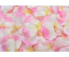 Lothringen Hochzeit Tisch Dekoration Seide Rosenblätter Blumen Konfetti Pink and White and Yellow