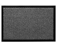 andiamo Schmutzfangmatte, Fußmatte aus Polypropylen – Indoor/Outdoor geeignet - in 60 x 80 cm Hellgrau – 5 mm Höhe