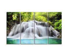 designart Huai Mae Kamin Wasserfall L & Scape Metall Wand Kunst – mt7091, 48x28