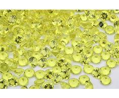 Angzhia 2/4 cm Hochzeit Tischstreuer Streudeko Kristalle Acryl Diamanten Strasssteine für Hochzeit Brautparty Vase Perlen Dekoration 4/5 inch (2cm) zitronengelb