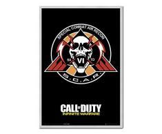 Call Of Duty Poster Infinite Warfare Narbe Kork Pinnwand silber Rahmen, 96,5Â x 66Â cm (ca. 96,5Â x 66Â cm)