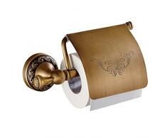 Leidener TM Badezimmer WC-Roller Papier Halterung WC Zubehör Wand maounted, Messing antik fertig