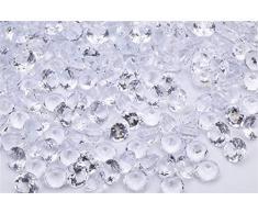 Angzhia 2/4 cm Hochzeit Tischstreuer Streudeko Kristalle Acryl Diamanten Strasssteine für Hochzeit Brautparty Vase Perlen Dekoration, acryl Kristall, Transparent-1, 4/5 inch (2cm)