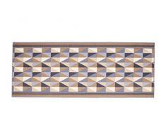 Pentone Creations RBRLYGA37067180T01 Küchenlaufer Burly Grau - braun Küchenlaufer 67x180 cm - bedruckt mit Küchentheme Print - Strapazierfähig, Stoff, 180 x 67 x 0,5 cm