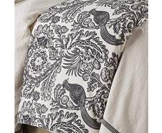 HiEnd Accents Augusta Black Bird Toile Bettdecke, Super Queen