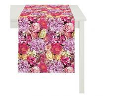 Apeltstoffe 3308 48x140 35 Läufer, Baumwolle, rosa, 48 x 140 cm