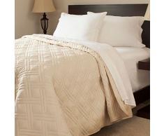 Bedford Home Bettdecke, einfarbig, Kingsize, elfenbeinfarben Queen-Size Full/Queen elfenbeinfarben