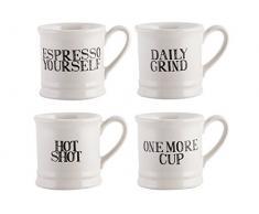 Creative Tops Stir It Up 4-teiliges Set Espresso Tassen, 60 ml (2 fl oz.)