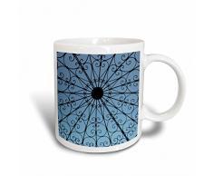 3dRose Ringling offener Pavillon mit blauen Himmel Kaffeebecher, Keramik, Mehrfarbig, 12,7 cm x 11,43 x, 8.45