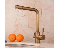 Hiendure® Messing gereinigtes Wasser Wasserhahn Trinkwasser-Küchenarmatur Becken Waschbecken Wasserhahn schwenkbarer Auslauf Hochbogen , gemalt