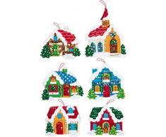 Bucilla Weihnachtsdorf Kit Ornamente Weihnachtsdorf
