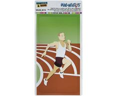 Grafiken und mehr Läufer Licht Running Track Long Abstand Cross Country Marathon mag-Neato s Car Kühlschrank Locker Vinyl Magnet