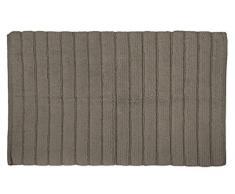 DII Badematte, besonders weich, luxuriös, gerippt, Memoryschaum-Baumwolle, Platz vor Dusche, Waschtisch, Badewanne, Waschbecken und WC 17x24 Cool Brown