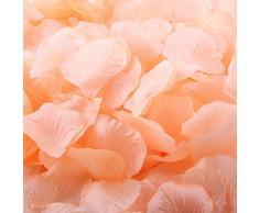 worldoor Stück gemischt Fasermaterial Farbe Rosenblätter Peach Party Hochzeit Blumen Silk Rosenblätter Konfetti Bridal Dusche Favor