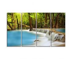 designart Huai Mae Kamin Wasserfall Fotografie Metall Wand Kunst – mt6445, blau, 48x28