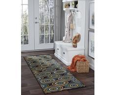 Universal Teppich mit, Läufer, Teppich, 221 x 79 x 79 cm, 8 Stück, Polypropylen, Braun, 221 x 0,12 cm