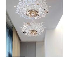 MEYA Top Ceilling Spiegel Wandtattoo, Top Beleuchtung der Decke Kronleuchter Um Dekorative Spiegel Rahmen Aufkleber, 70 x 70 cm, DIY Spiegel Wandtattoo