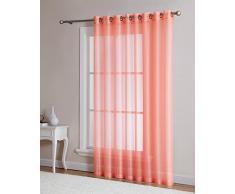 DecoSource Fenstervorhänge für Schlafzimmer, Wohnzimmer, Küche, Kinderzimmer, Outdoor, strapazierfähiges Polyester, 2 Stück 1 Patio Panel 102 W x 84 L Korallenrot