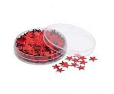 eBuyGB Tischkonfetti Stern, Plastik, rot, 4 Stück