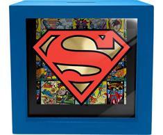 Spoontiques Superman Shadowbox Bank, Blau