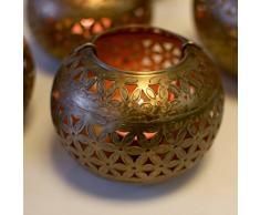 Garden Of Arts Marokkanischer Teelichthalter für Weihnachtsbeleuchtung