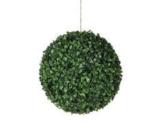Mica decorations 1021123 Buxus Kugel - D14 cm Kunstpflanze, Plastik, grün, 14 x 14 x 14 cm